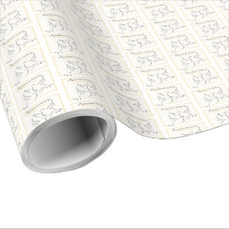 Custom Name, Wedding Anniversary Blessings Wrapping Paper