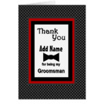 Custom Name Wedding Groomsman Thank You