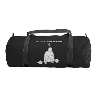 Custom NAME Weight Duffle Gym Bag, Black Gym Bag