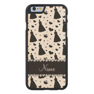 Custom name white princess hearts stars crown carved® maple iPhone 6 slim case