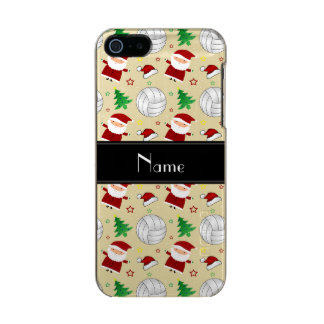 Custom name white volleyball christmas pattern incipio feather® shine iPhone 5 case