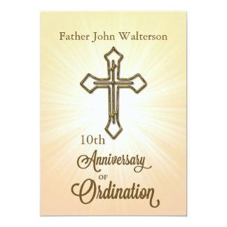 Custom Name & Year, 10th, Anniversary of Ordinatio 13 Cm X 18 Cm Invitation Card