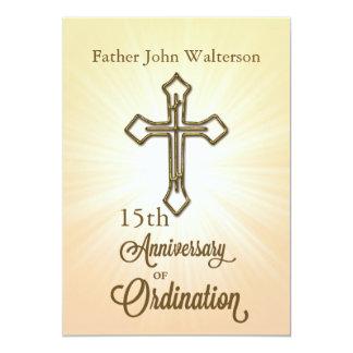 Custom Name & Year, 15th, Anniversary of Ordinatio 13 Cm X 18 Cm Invitation Card