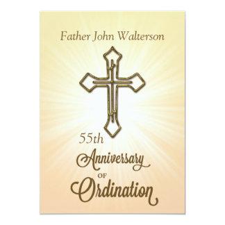 Custom Name & Year, 55th, Anniversary of Ordinatio 13 Cm X 18 Cm Invitation Card