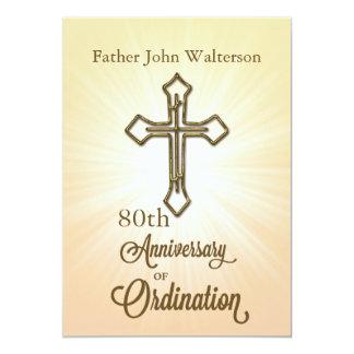Custom Name & Year, 80th, Anniversary of Ordinatio 13 Cm X 18 Cm Invitation Card