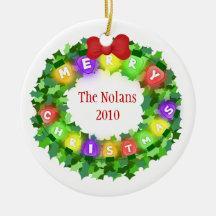 Custom Name & Year Christmas Ornament