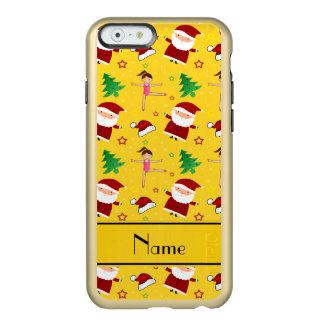 Custom name yellow christmas gymnastics santas incipio feather® shine iPhone 6 case