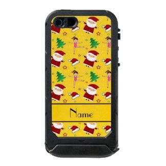 Custom name yellow christmas gymnastics santas incipio ATLAS ID™ iPhone 5 case