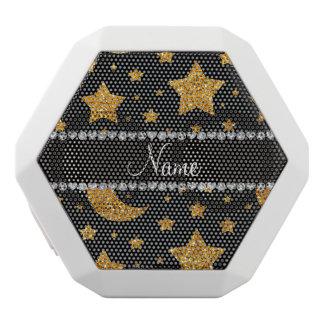Custom name yellow glitter stars and moons