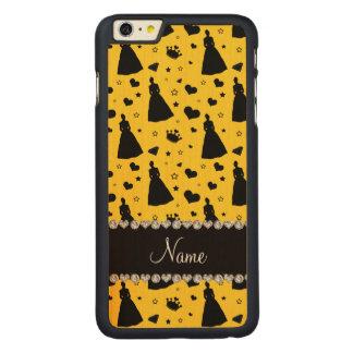 Custom name yellow princess hearts stars crown iPhone 6 plus case