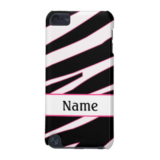 Custom Name Zebra iPod Touch Case