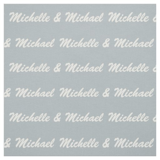 Custom Names & Color Couple's fabric