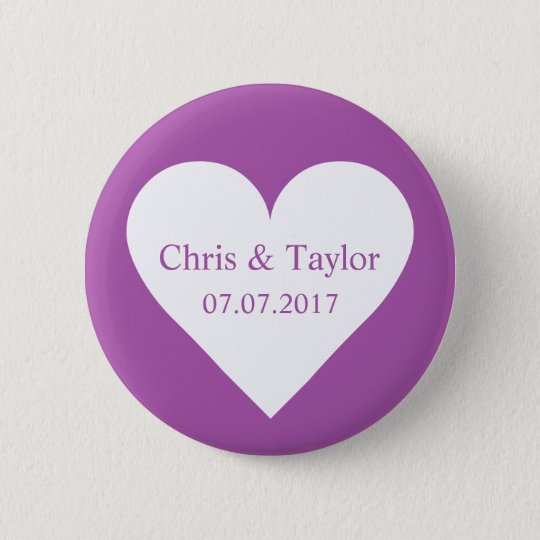 Custom names, date, and colour heart button