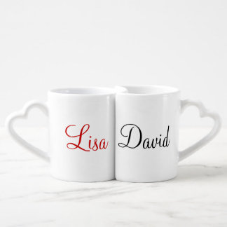 Custom Names Lovers' Mug Set Lovers Mug