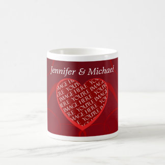 Custom Names Photo Template Love Valentine's Day Coffee Mug