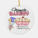 Custom Nanas Bakery Gift Ornaments