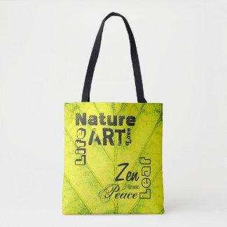 Custom Natural Leaf Tote Bag