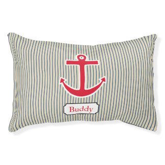 Custom Nautical Anchor Boat Dog Pet Bed Gift