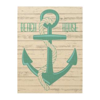 Custom Nautical Beach House Anchor Wood Wall Art Wood Prints