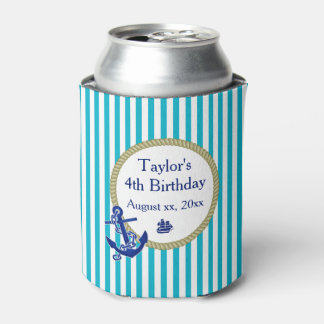 Custom Nautical Party Can Cooler