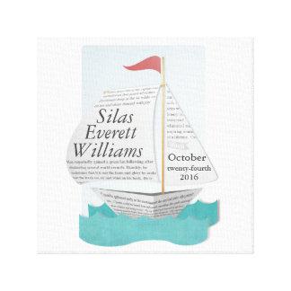 Custom Nautical Sail Boat Canvas Print