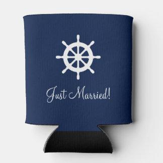 Custom nautical ship wheel helm wedding can cooler