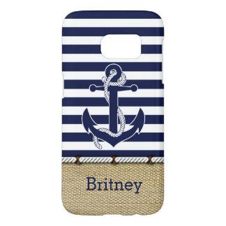 Custom Nautical Trendy Anchor Stripes Pattern