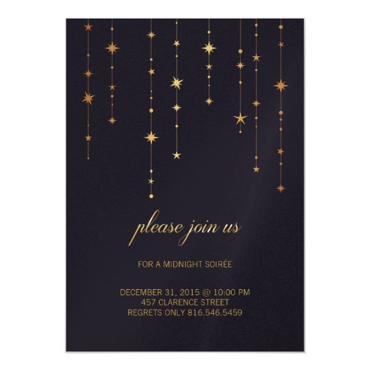 Custom Navy Birthday/New Year Party Invitation