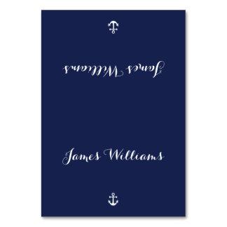 Custom Navy Blue Nautical Place Setting Cards Table Card