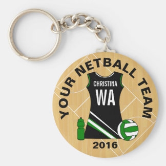 Custom Netball Key Ring