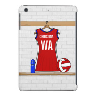 Custom Netball Uniform Red with Blue and White iPad Mini Cases