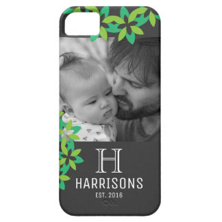 Custom New Dad Photo | Family Name and Monogram Case For The iPhone 5
