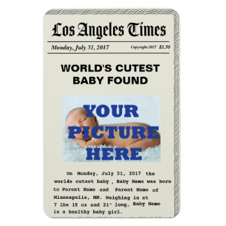 news paper birth announcement