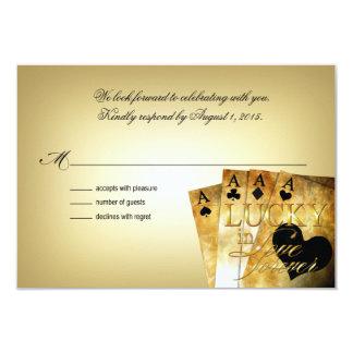 ::CUSTOM:: Nichole & Jason Las Vegas RSVP 9 Cm X 13 Cm Invitation Card