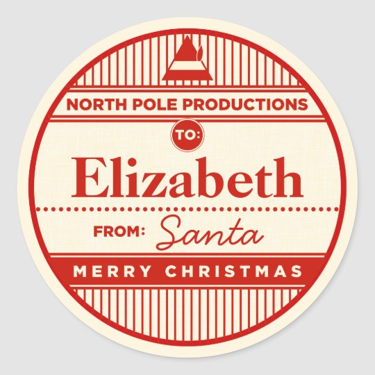 Custom North Pole Productions Christmas Sticker
