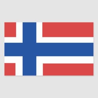 Custom Norwegian Flag (Norske Flagg) Rectangular Sticker