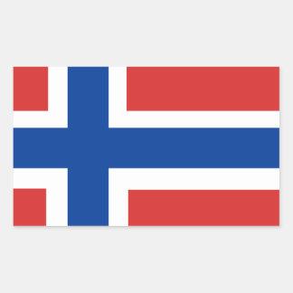 Custom Norwegian Flag (Norske Flagg) Rectangular Sticker