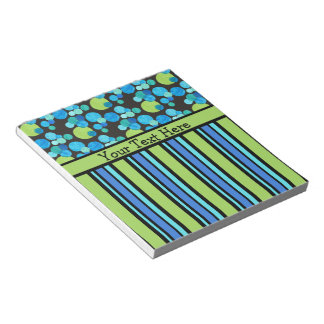 Custom Notepad or Jotter: Blue Moons and Stripes