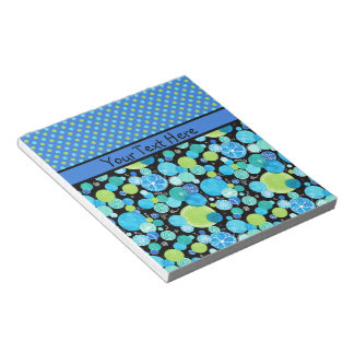 Custom Notepad or Jotter Quirky Blue Moons Pattern