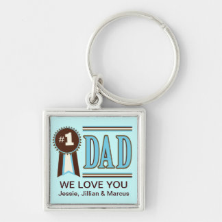 Custom Number One Dad's Father's Day Keychain