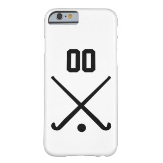 Custom Number Team Field Hockey Barely There iPhone 6 Case