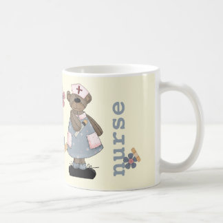 Custom Nurse's Name Teddy Bear Design Gift Mugs