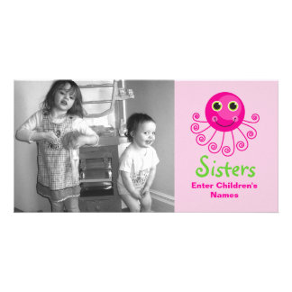 Custom Octopus Big Sister Child s Name Picture Card