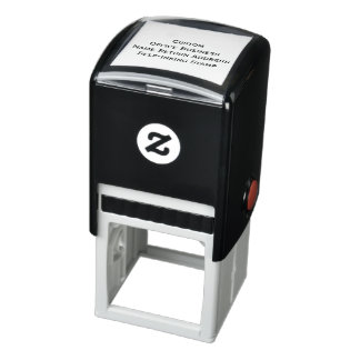 Custom Office Business Logo Name Return Address Self-inking Stamp