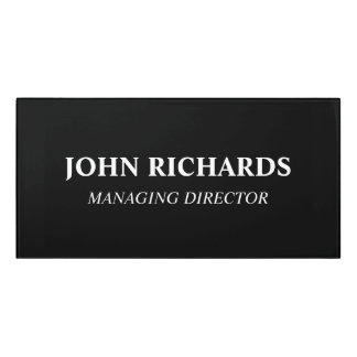 Custom office door name plates | acrylic wall sign
