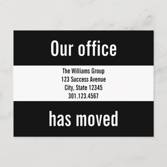 custom office moving announcement postcard zazzle co uk