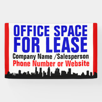 Custom Office Space For Lease Sign