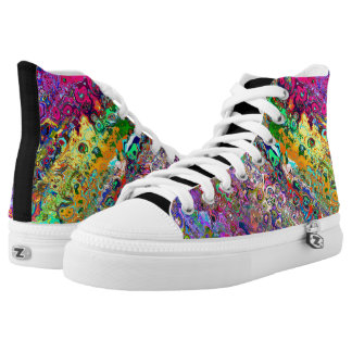 Custom Oil High Top Sneakers