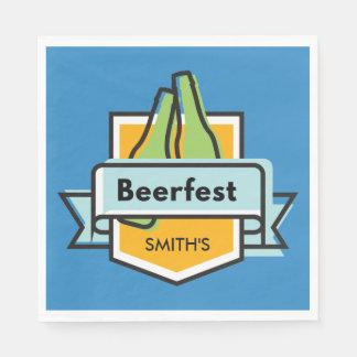 Custom Oktoberfest Beerfest Festival Disposable Serviette