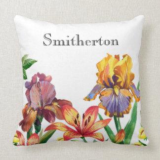 Custom Orange and Yellow Lilies Cushion